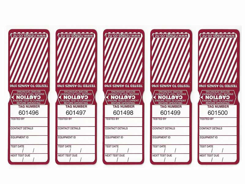 Heavy Duty Burgundy Tags