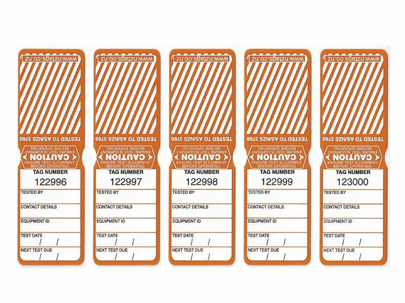 Heavy Duty Orange Tags