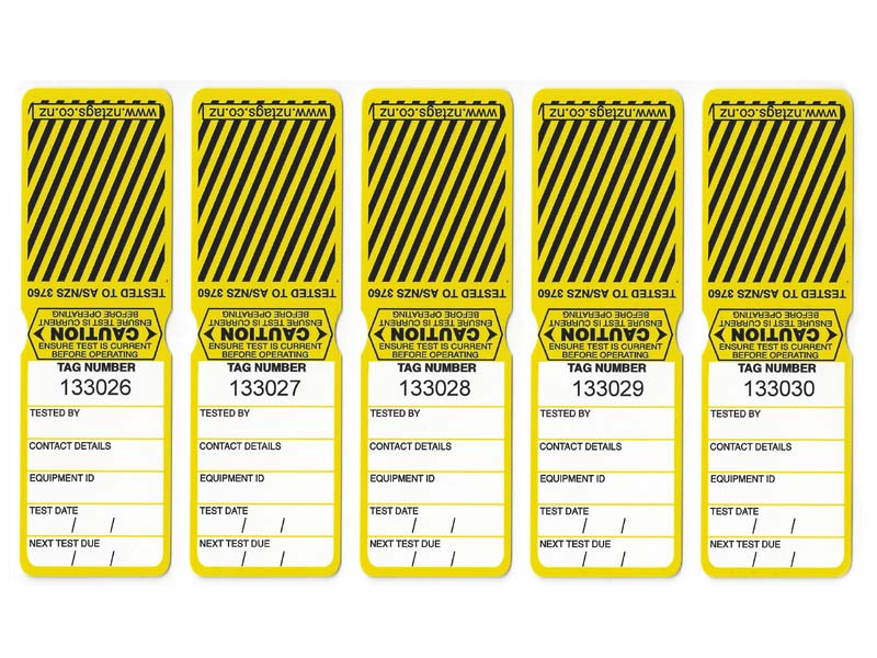 Heavy Duty Yellow Tags