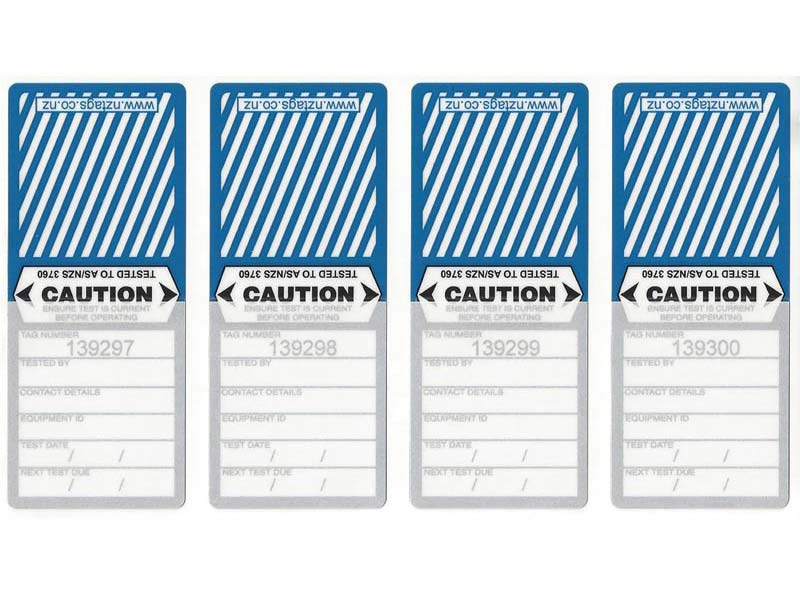 Medium Duty Blue Tags