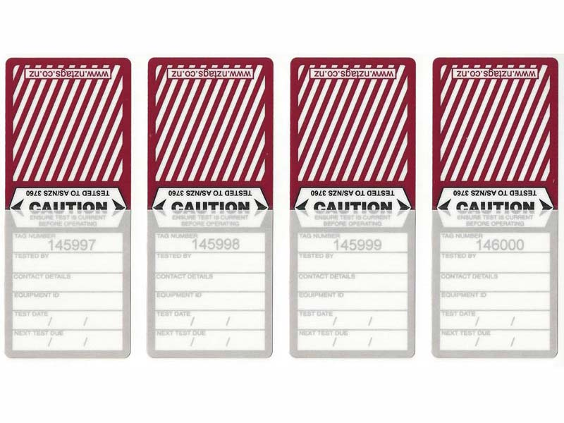 Medium Duty Burgundy Tags