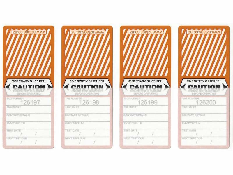 Medium Duty Orange Tags