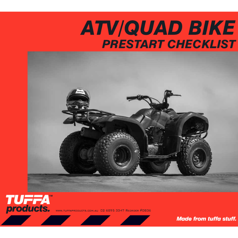 ATV / Quad Bike Prestart Checklist Books