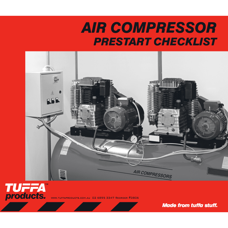 Air Compressor Prestart Checklist Books