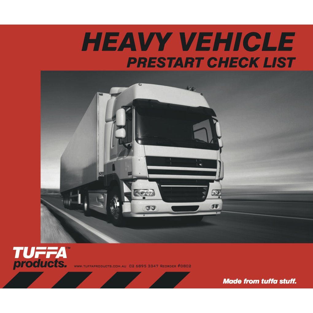 Heavy Vehicle Prestart Checklist Books