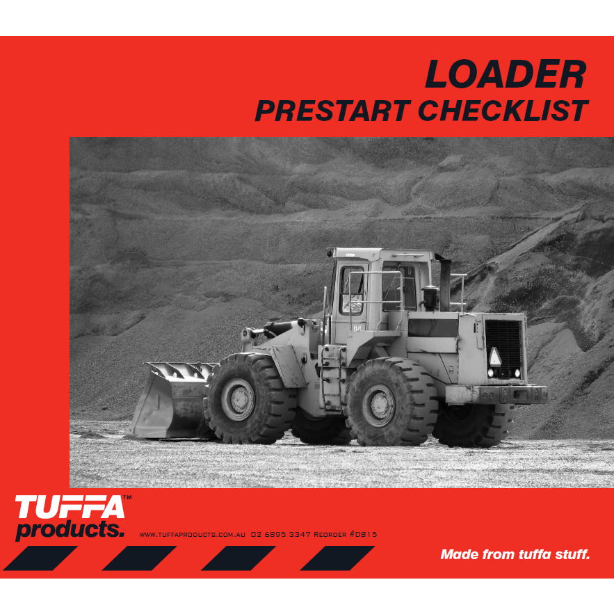 Loader Prestart Checklist Books