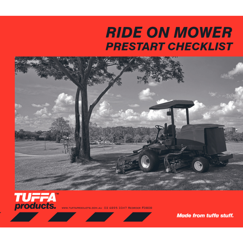 Ride On Mower Prestart Checklist Books