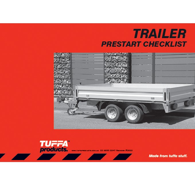 Trailer Prestart Checklist Books