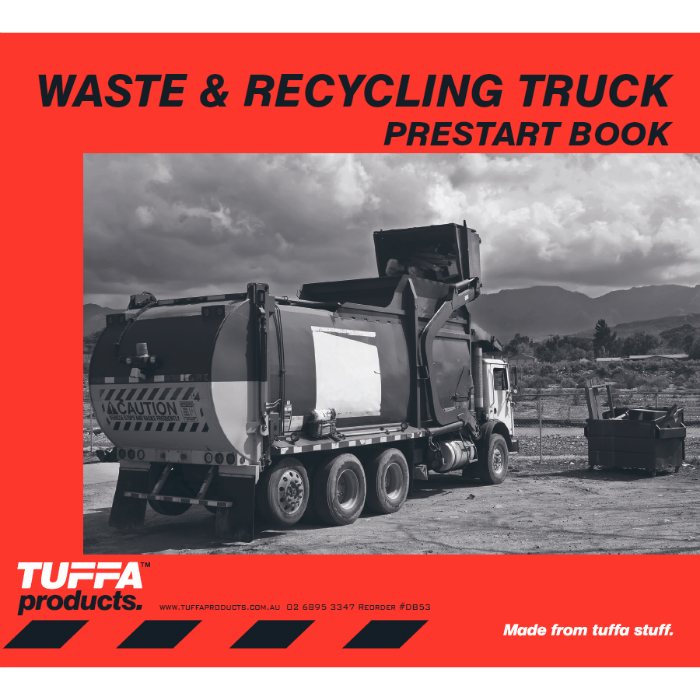 Waste & Recycling Truck Prestart Checklist Books