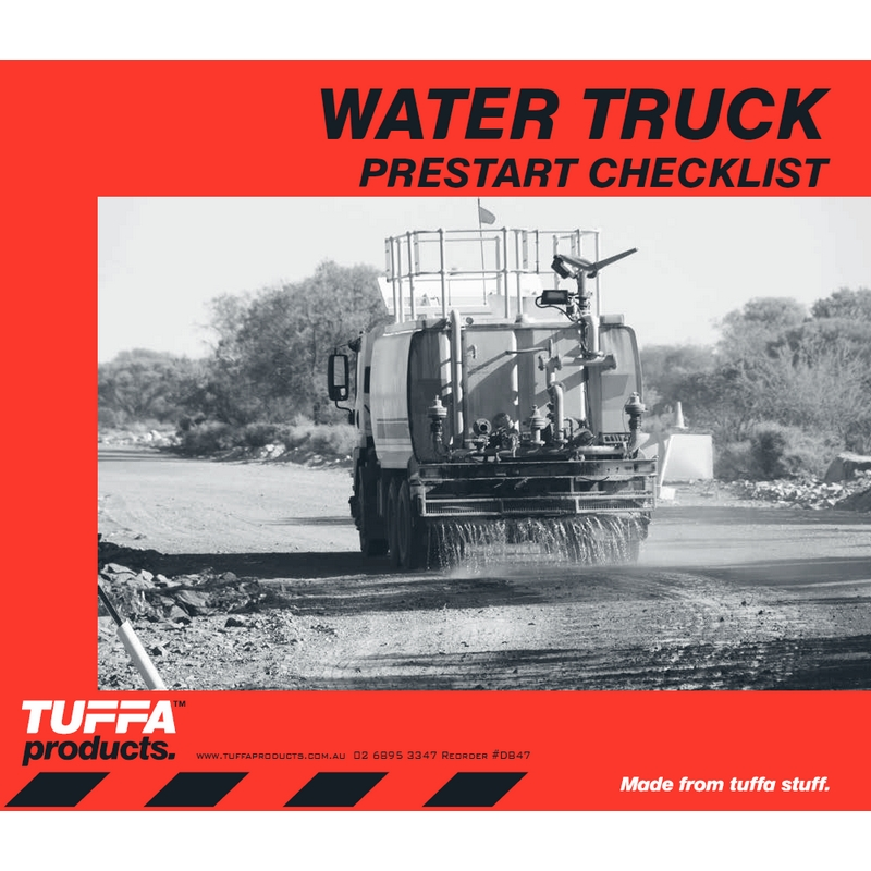 Water Truck Prestart Checklist Books