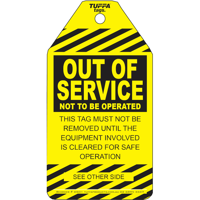 Out Of Service Tags – Pack Of 20