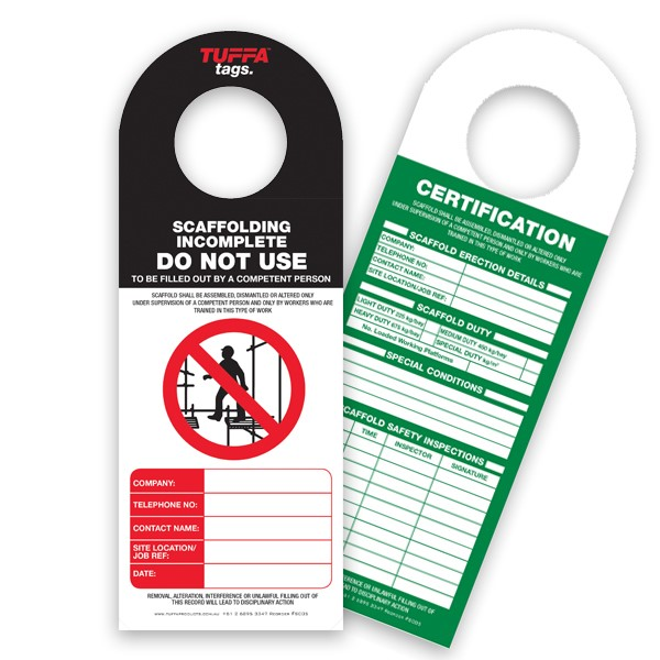 Titan Scaffolding Tags – Pack Of 20